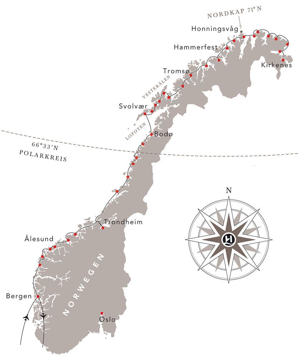 Karte Norwegen Hurtigruten.Fotoreise Norwegen Mitternachtssonne 2020 Hurtigruten Fotoworkshop